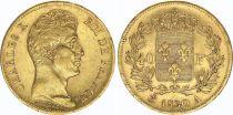 France 40 Francs Charles X - 1830 A Paris - OR