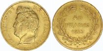 France 40 Francs Louis Philippe I Laureate head - 1833 A - Gold
