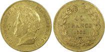 France 40 Francs Louis Philippe Ier Tête Laurée - 1833 A - PCGS AU 53