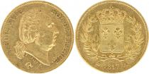France 40 Francs Louis XVIII - 1817 A - Or