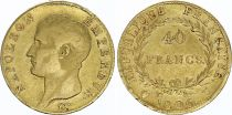 France 40 Francs Napoleon I - Laureate head 1806 U Turin - Gold