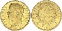 France 40 Francs Napoleon I  Laureate head 1809 A Paris - Gold