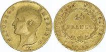 France 40 Francs Napoléon I Empereur - 1806 U Turin - Or