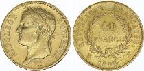 France 40 Francs Napoléon I Empereur - 1808 H La Rochelle - Or