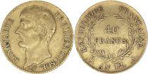 France 40 Francs Napoleon Ier Consul - An 12 A Paris - Or