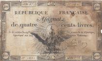 France 400 Livres 21-09-1792 - Sign. Gorsse - Serial 1753 - aF - P. A.73