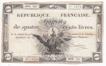France 400 Livres 21-11-1792 - Sign. Benoist Serial 347 - VF