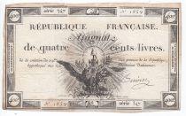 France 400 Livres 21-11-1792 - Sign. Darnaud Série 1197 - TB+
