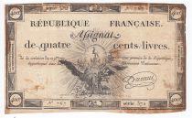 France 400 Livres 21-11-1792 - Sign. Durant Série 372 - PTTB