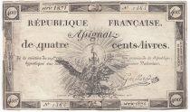 France 400 Livres 21-11-1792 - Sign. Gaillard Série 1871 - PTB