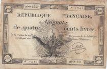 France 400 Livres 21-11-1792 - Sign. Griois - Série 859 - TB