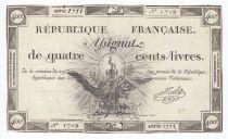 France 400 Livres 21-11-1792 - Sign. Noel Série 1711 - TTB