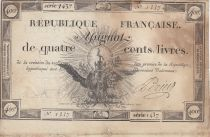 France 400 Livres 21-11-1792 - Sign. Perier - Serial 1437 - F - P. A.73