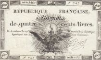 France 400 Livres 21-11-1792 - Sign. Perier - Serial 1467 - XF to AU - P. A.73