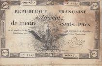 France 400 Livres 21-11-1792 - Sign. Perier Série 1437 - TB