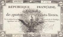 France 400 Livres 21-11-1792 - Sign. Perier Série 1467 - SUP