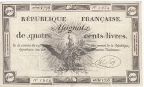 France 400 Livres 21-11-1792 - Sign. Say - Serial 1798 - VF