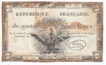 France 400 Livres 21-11-1792 - Sign. Tridon Serial 1900 - VF