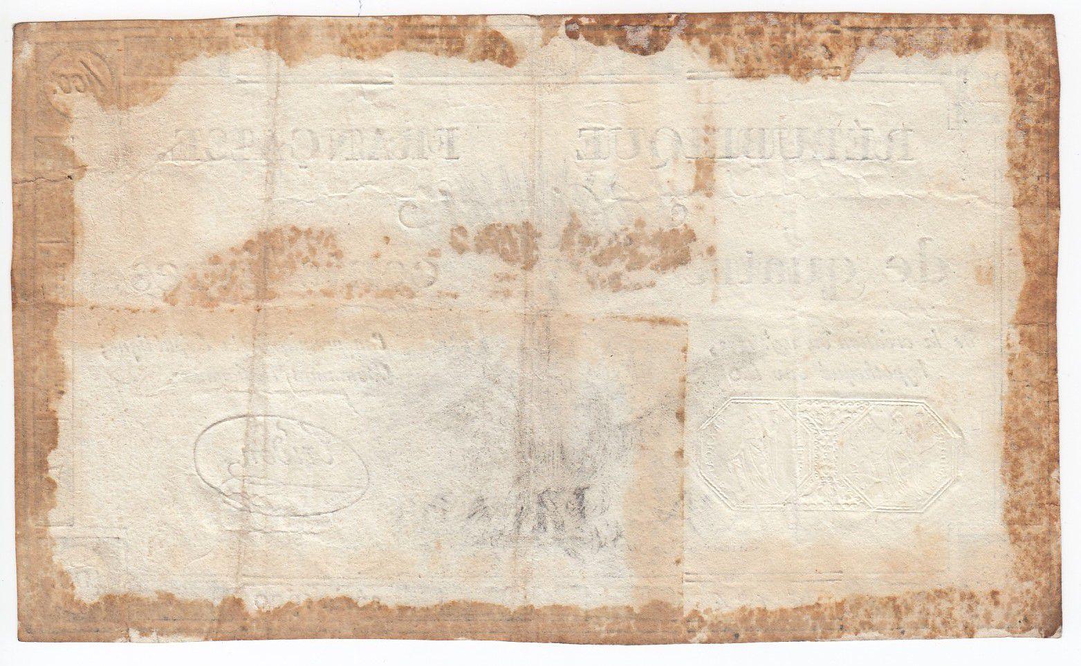France 400 Livres 21-11-1792 - Sign. Tridon Série 1900 - TTB