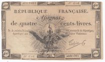 France 400 Livres 21-11-1792 - Sign. Tulpin - Serial 1882 - VF