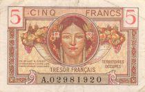 France 5  Francs Trésor Francais- Portrait of Woman  - 1947 A 02981920 - VF