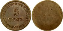 France 5 Cent, Fabrique du Vast - P. F. Fontenilliat - 1795