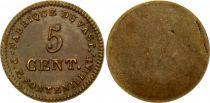 France 5 Cent, Fabrique du Vast - P. F. Fontenilliat - 1795