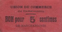 France 5 cent. Castelmoron Union du commerce