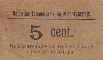 France 5 cent. Le Mas d\'Agenais Union des Commerçants