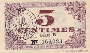 France 5 cent. Lille
