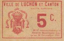 France 5 cent. Luchon City