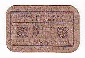 France 5 cent. Saint-Quentin Fleurette 3