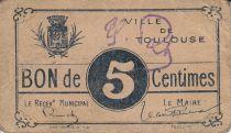 France 5 cent. Toulouse Municipal emission