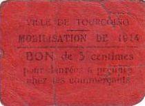 France 5 cent. Tourcoing Mobilisation de 1914