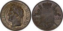 France 5 Centimes -  Louis Philippe I - 1847 - Essai à la charte