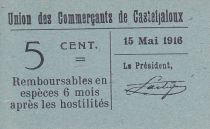 France 5 Centimes Casteljaloux Ville