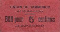 France 5 Centimes Castelmoron Union du commerce