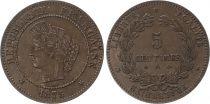 France 5 Centimes Cérès - Third Républic - 1875 A
