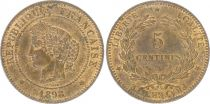 France 5 Centimes Cérès - Third Républic - 1898 A