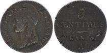 France 5 Centimes Dupré - Directoire An 4 A Paris (1796)