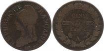 France 5 Centimes Dupre - Liberty head - An 5 A Paris - 1796-1797