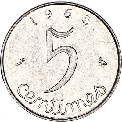 France 5 Centimes Epi - 1962