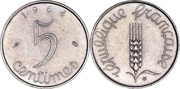 France 5 Centimes Epi - 1964