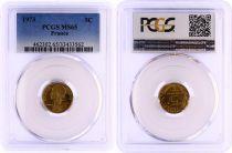 France 5 Centimes Lagriffoul - 1973 - PCGS MS 65