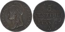 France 5 Centimes Liberty head - An 4 A Paris (1796)