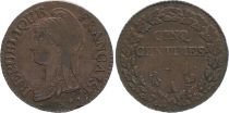 France 5 Centimes Liberty head - An 7 A Paris (1799)