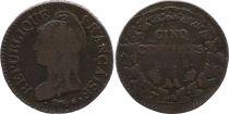 France 5 Centimes Liberty head - An 8 AA Metz (1800)