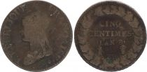 France 5 Centimes Liberty head - An 8 BB Strasbourg (1800)