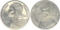 France 5 Centimes Marian - 1971 Piefort Silver - UNC