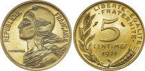 France 5 Centimes Marianne - 1971  issu de coffret BU